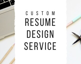 Custom Resume Design Resume Template CV Template Professional Resume Personalized Resume Modern Resume Custom Word Resume Cover Letter CV