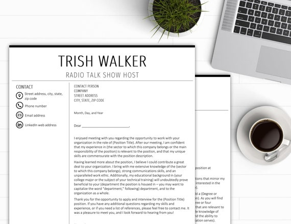 Resume Template 2 Page CV Template Cover Letter Microsoft Word Instant  Digital Download Resume Template Professional Resume Simple Resume CV