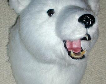 polar bear head etsy