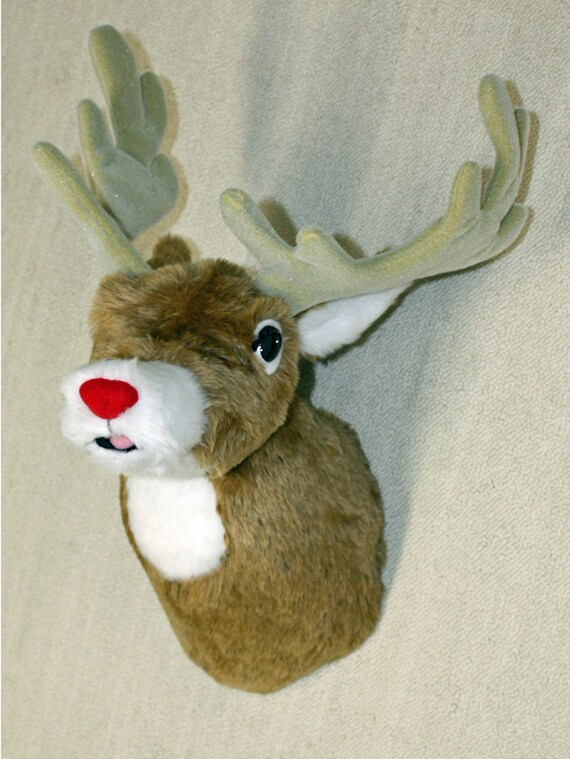 Plush Deer HeadJohnny Tiny Shoulder Mount