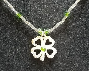 Green 4 Leaf Clover Necklace