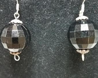 Black Disco Ball Earrings
