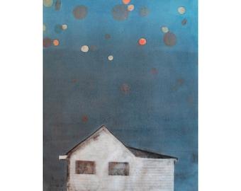 Gyclée Print of Monotype & Image Transfer by Sarah Hallman - Martinisky