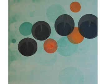 Giclée Print of Monotype by Sarah Hallman - Fortune Flowers