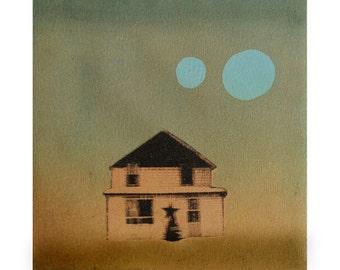 Giclée of Monotype/Image Transfer by Sarah Hallman - High Way