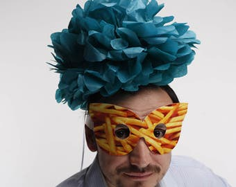 French Fries Mask Paper Party Masquerade Potato Birthday Carnival Ball Food