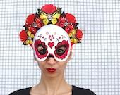 Sugar skull mask PRINTABLE. Calavera mask. Day of the Dead skull mask. Sugar skullmask. Day of the Dead mask. Dia de los Muertos mask. Mask