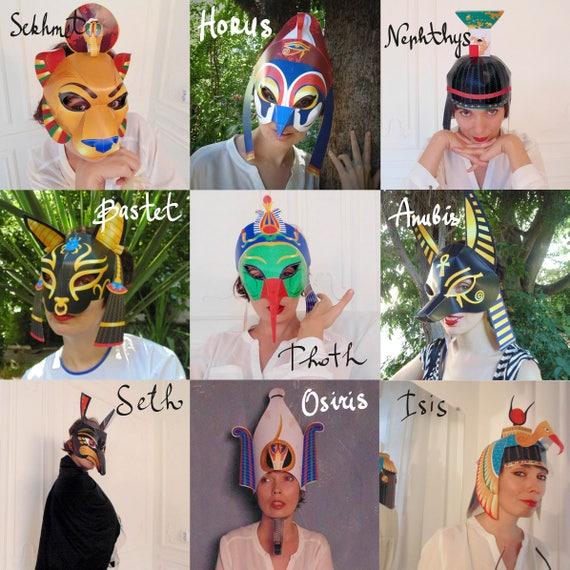 Black Gold King Tut Half Mask Costume Party Accessory Pharaoh Roman Halloween