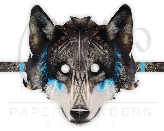 Wolf mask wolf mask printable template wolf mask pattern etsy image 0 maxwellsz
