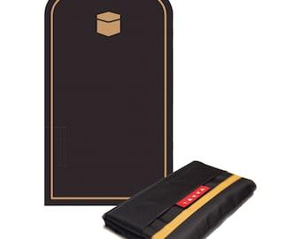 Black Pocket Sejadah, Prayer Rug For Muslims, Prayer Mat, Portable Prayer Mat, Minimal Prayer Mat, Foldable Prayer Mat, Durable Prayer Rug