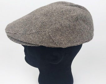 96159a62224 Vtg LONDON FOG Mens Cabbie Newsboy Flat Hat Cap Wool Made In USA Sz 7 - 7  1 8 M