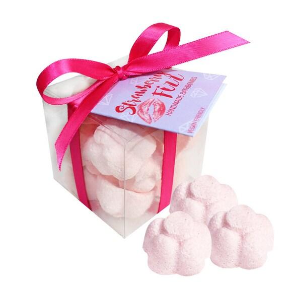 Boîte de cadeau fraise de fleur effervescents