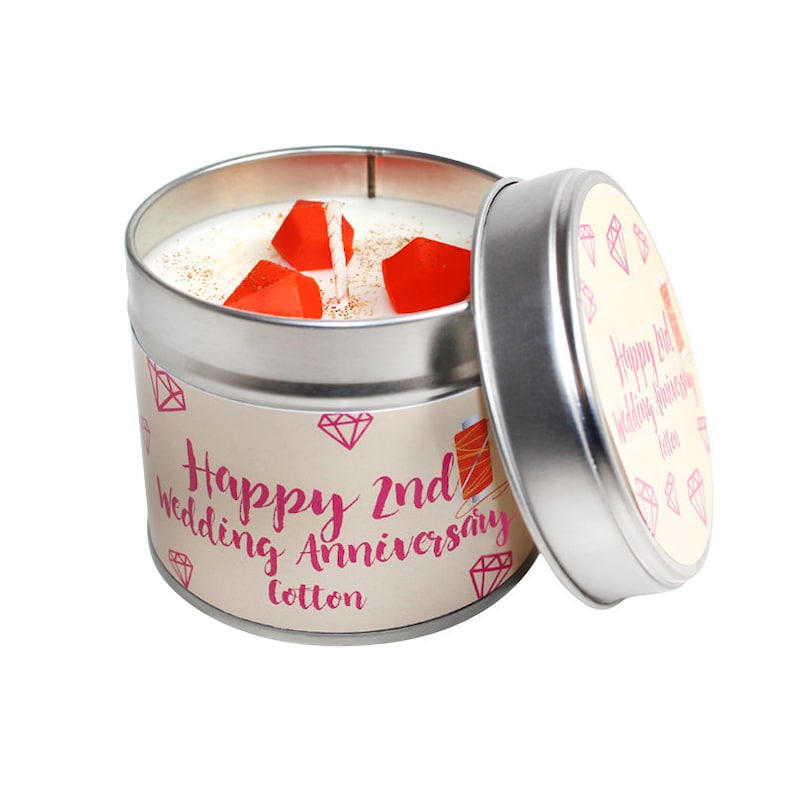 Soya Wax Candle Tin 30th Wedding Anniversary Pearl Handmade Scented