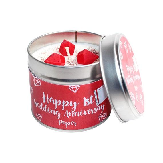 1st Year Wedding Anniversary Candle Tin