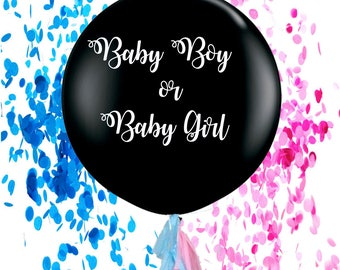 Gender reveal big confetti filled Balloon more designs available , It's a girl , it's a boy, Boy Or girl, New Baby announcement
