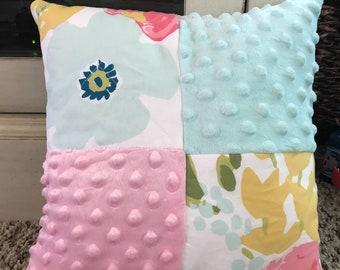 b4b16d3a78a Cloud island floral~nursery pillow pink and blue.