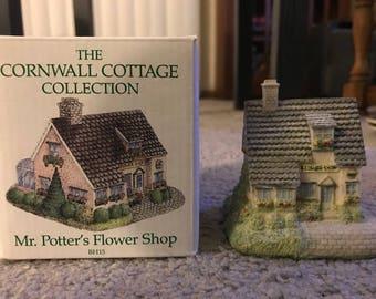 1991 Mr. Potter's Flower Shop Cornwall Cottage Collection