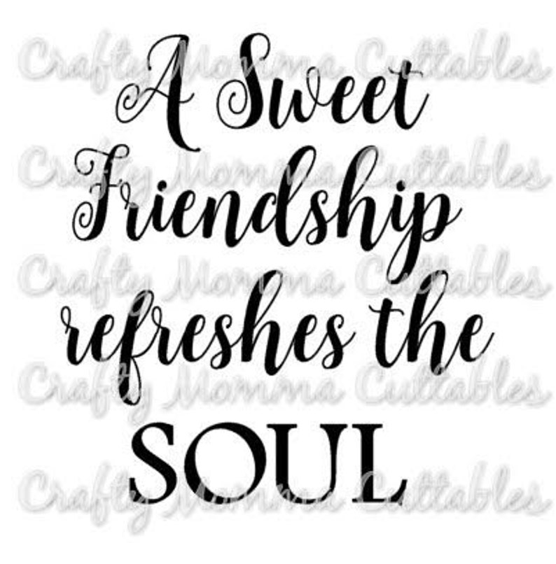 Eine süße Freundschaft SVG Datei / Sprüche 279 SVG / Freunde | Etsy