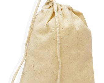 """100 pcs (3"""" x 5"""") Small Bulk Cotton Reusable Single Drawstring Bags, Gift bags, Jewelry Pouch, tooth fairy bags, food bags"""