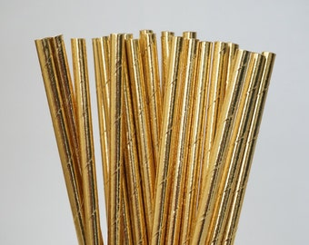 Gold Party Straws, Gold, Baby Shower Decorations, Bridal Shower Decorations, Gold Party Straw Mix, 25 Piece Mix