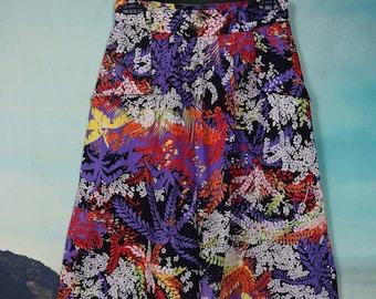 Vintage 60's high waisted floral skirt sz S