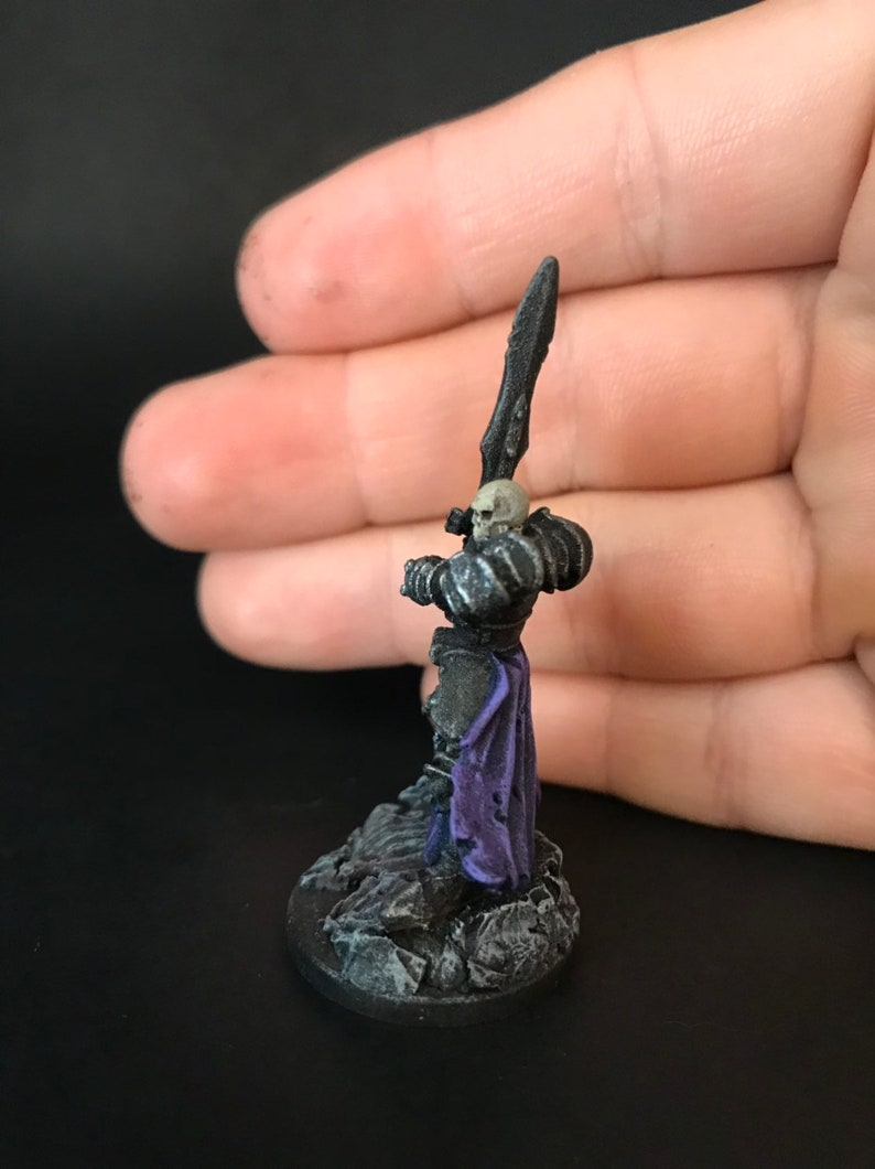 Pro painted death knight skeleton mini for dnd or pathfinder