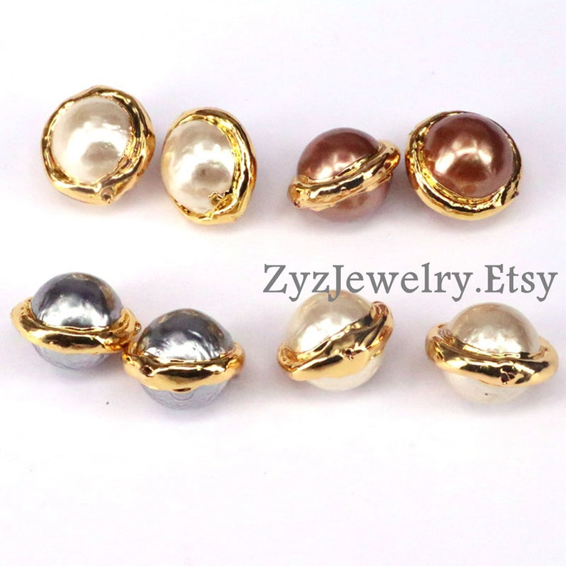 Spacer Beads Mother Of Pearl Shell Round Rondelle Gemstone Beads Jewelry Findings 10PCS