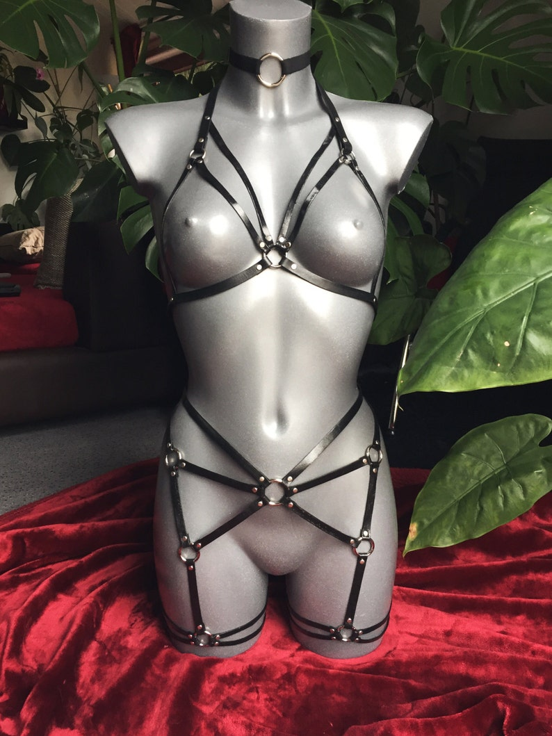 Real leather harness