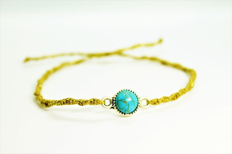 turquoise macrame minimalist bracelet.howlite turquoise in silver brass connector.hand knotted bracelet.friendship gemstone bracelet.