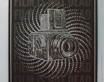 """Film is not dead - Letterpress Broadside 12.5 x 19"""""""