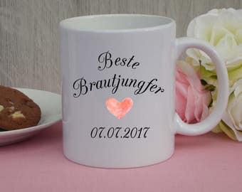 "Mug ""best bridesmaid""/mug/Wedding"