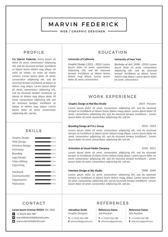 Resume Template/CV Template + Cover Letter + Business Card | Word Resume |  1, 2 & 3 Page Resume | Professional CV | Instant Download | MF