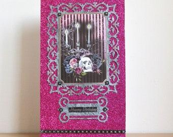 Pink Goth alternative birthday card