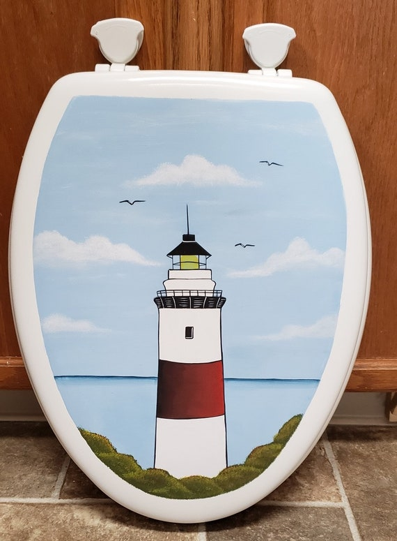 Outstanding Elongated Light House Toilet Seat White Wooden Theyellowbook Wood Chair Design Ideas Theyellowbookinfo