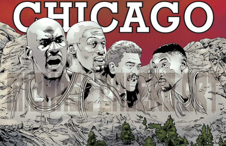 1efa60757a47 Chicago Bulls 90s Mount Rushmore Michael Jordan Dennis