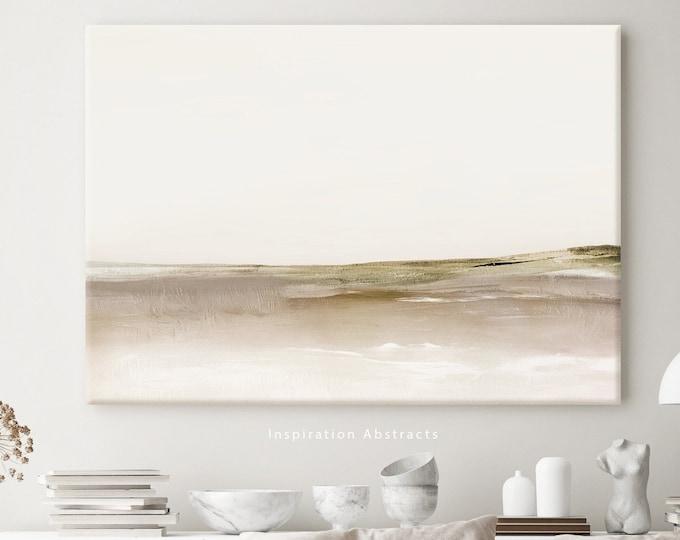 Minimal Landscape Painting, Large Canvas Print, Lake House Decor, Abstract Wall Art, Zen Wall Art, Entry Way Art