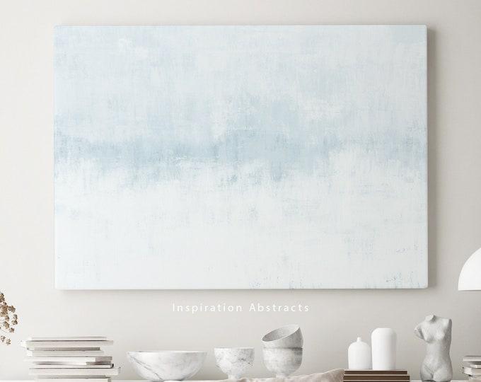 Pale Blue Wall Art, Minimal Canvas Art, Zen Wall Art, Large Canvas Print, Minimalist Art, Lake House Decor, Abstract Art, Coastal Decor