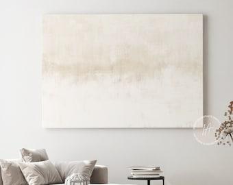 Minimal Canvas Art, Large Canvas Print, Minimalist Art, Lake House Decor, Zen Wall Art, Neutral Abstract Art, Abstract Art, Rothko Inspired