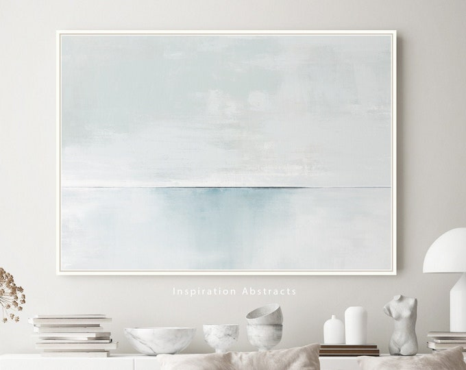 Serene Abstract Painting, Giclee Art Print, Coastal Wall Art, Lake House Decor, Minimal Painting, Contemporary Art