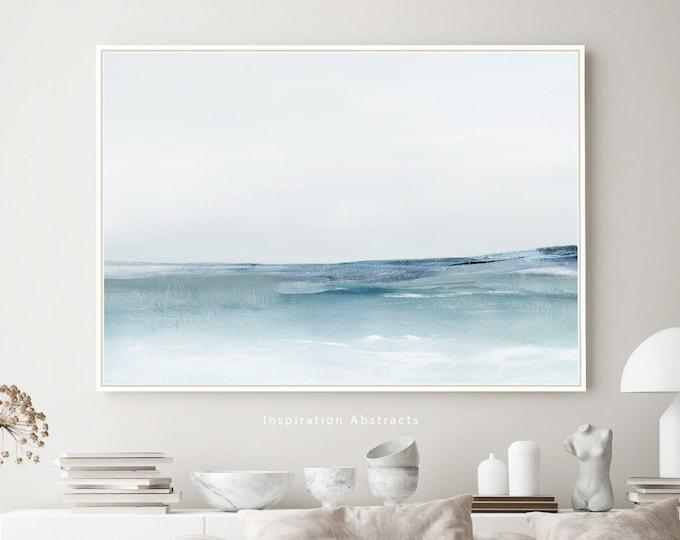 Calming Seascape Painting, Large Canvas Print, Coastal Wall Art, Zen Wall Art, Living Room Decor