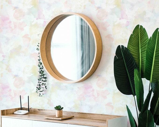 Delicate Floral Wallpaper, Abstract Wallpaper, Removable Wallpaper, Flower Wallpaper, Nursery Wallpaper, Boho Wall Decor, Feminine Wallpaper
