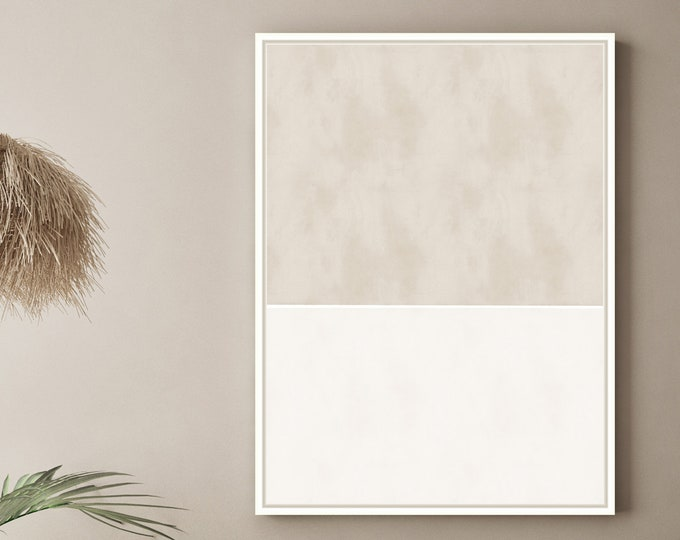 Large Abstract Painting, Minimal Wall Art, Neutral Tone Print, Printable Art, Rothko Inspired, Downloadable Art,Modern Wall Art,