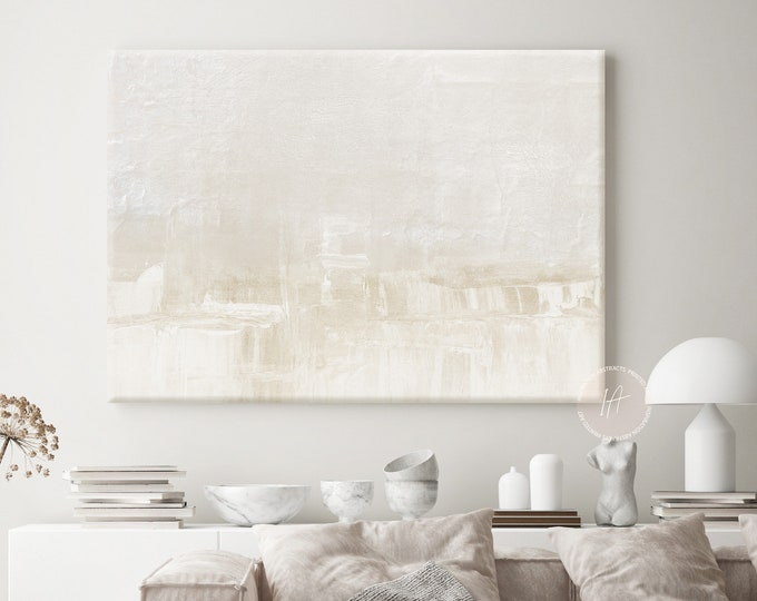 Large Minimal Canvas Wall Art, Serene Abstract Painting, Calming Wall Art, Modern Art, Abstract Art, Zen Wall Art