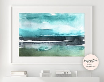 Abstract Landscape Painting, Printable Art, Abstract Art, 24x36 Wall Art, Modern Art, Large Abstract Print, Extra Large Wall Art