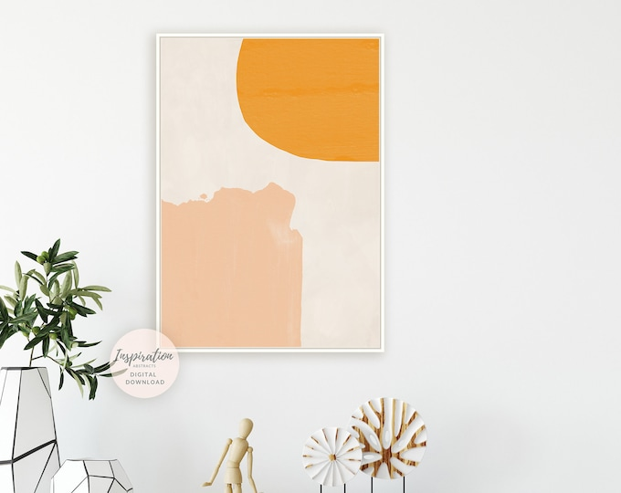 Minimal Abstract Art, Printable Wall Art, Poster Print, Abstract Art, Large Wall Art, Minimalist Art, Mid Century Modern Art Print