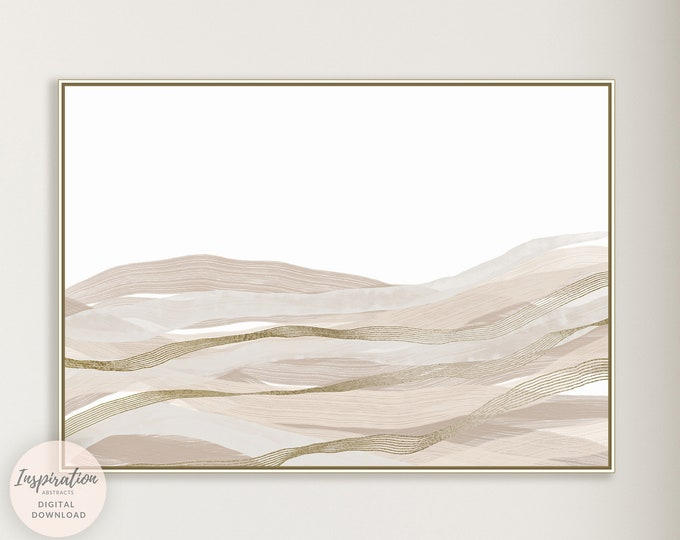 Minimal Landscape Print, Abstract Painting, Minimal Painting, Horizontal Wall Art, Printable Art, Modern Wall Art, Large Wall Art