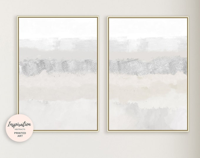 Set of Two Minimal Abstract Paintings, Fine Art Prints, Large  Wall Art, Minimalist Art, Zen Wall Art, Bedroom Wall Art, Calming Wall Art