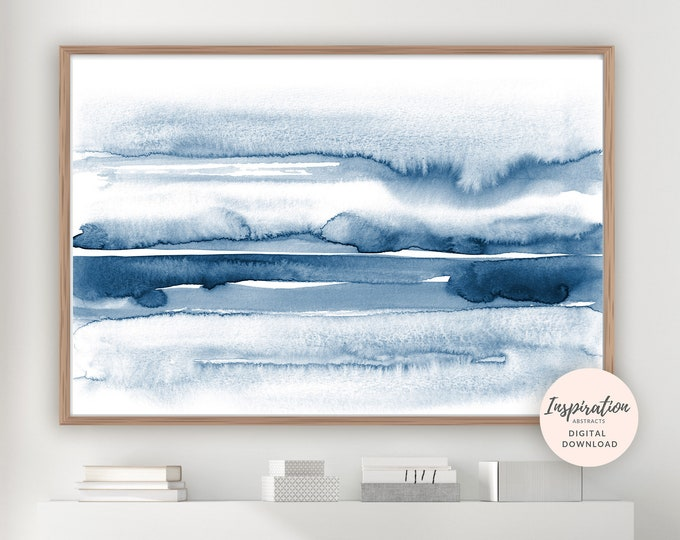 Featured listing image: Large Watercolour Painting, Minimalist Print, Abstract Art, Landscape Painting, Zen Wall Art, Printable Art, Modern Art, Large Wall Art