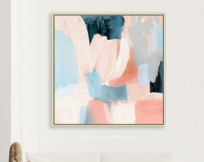 Large Abstract Painting With Pastel Tones, Modern Wall Art, Printable Wall Art, Acrylic Painting, Contemporary Art, Bedroom Decor