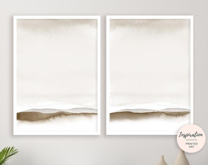Set of 2 Minimalist Art Prints, Calming Wall Art, Abstract Art, Watercolour Painting, Serene Wall Art, Coastal Wall Art Set